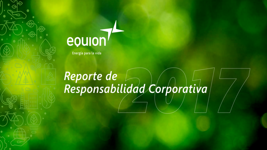Portada del reporte de sostenibilidad de Equion 2017