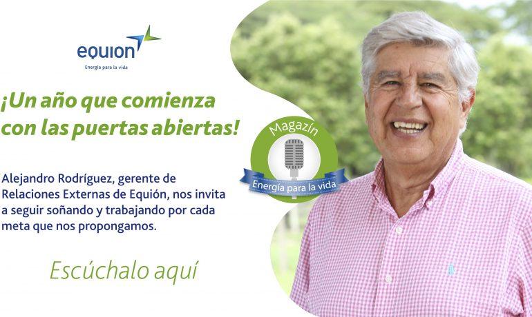 Imagen: Alejandro Rodríguez, trabajador de Equión desea un feliz año a todos